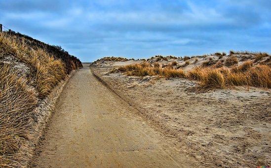 Landscape, Desert, Road, Path, Sand