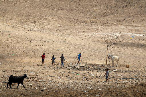 Children, Leisure, Desert, Kids, Playing, Enjoyment