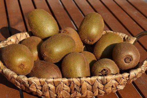 Kiwis, Basket, Basket Of Kiwis, Fruits, Healthy