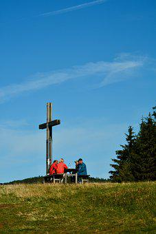 Cross, Summit, Mountain, Hiking, Hike, Nature
