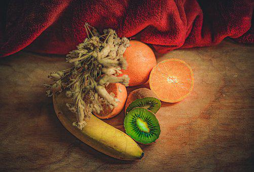 Fruits, Still Life, Fresh Friots, Kiwis, Oranges