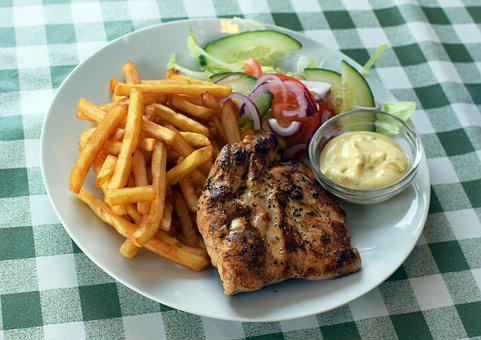 Chicken, Fries, Food, Meal, Cuisine, Lunch, Dinner