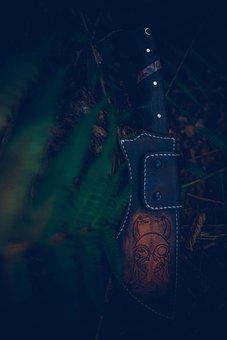 Scabbard, Leather Knife Holder, Knife, Weapon