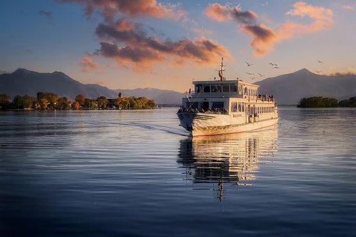 Lake, Ship, Ferry, Boat, Water, Water Reflection