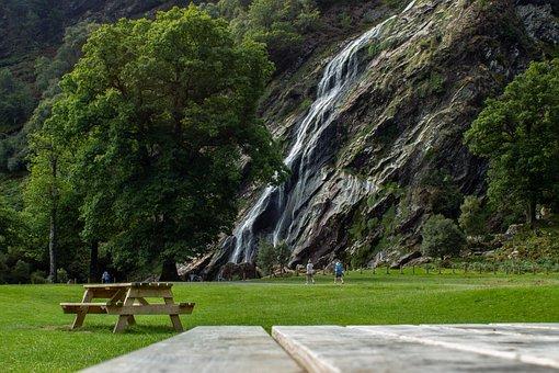 Waterfall, Cascasdemrocks, Mountains, River, Water