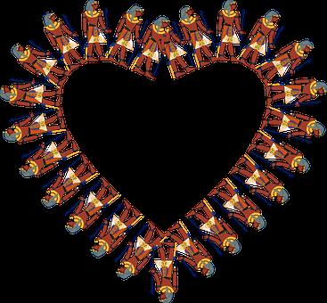 Heart, Egyptian, Frame, Border, History