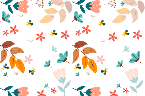 Flowers, Leaves, Background, Floral