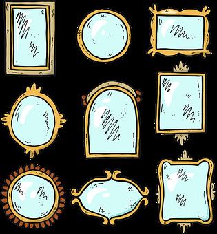 Mirror, Icons, Mirror Icons, Cartoons, Design, Frame