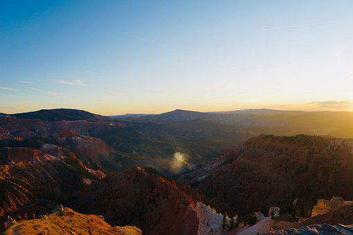 Canyon, Cliff, Mountain, Sunset, Sandstone, Nature