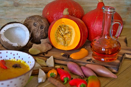 Soup, Pumpkin Soup, Pumpkin, Ginger, Coconut, Chilli