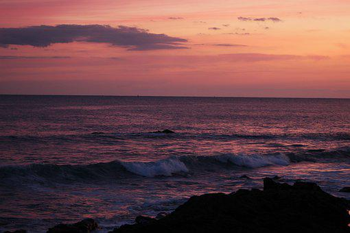 Seascape, Sea, Twilight, Ocean, Seawaves