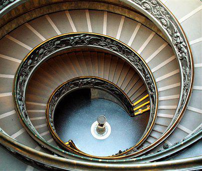 Stairway, Spiral, Staircase, Stairs