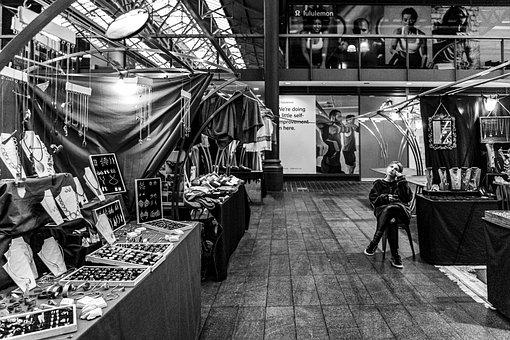 Market, Jewelry, Stand, Vintage, Young, Stalls, Indoors