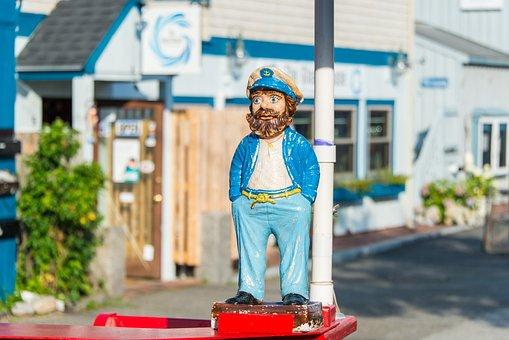 Captain, Sailor, Fisherman, Statue, Figure, Character