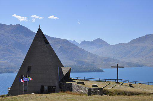 Church, Pyramid, Building, Architecture, Facade, Cross