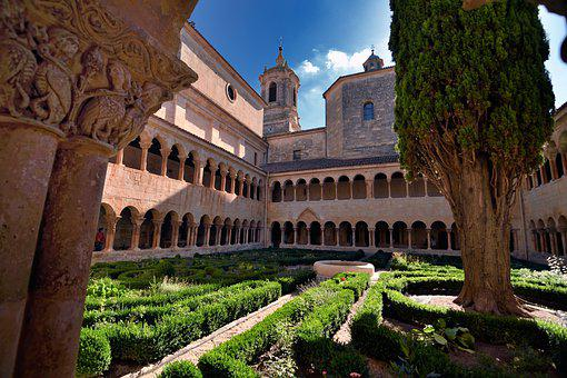 Monastery, Convent, Archway, Tower, Garden, Pathway