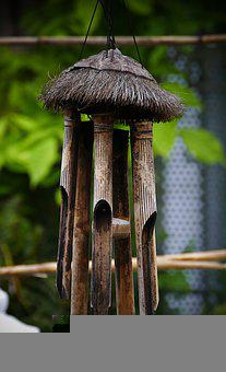 Wind Chimes, Bamboo, Sound, Music, Wooden Chimes