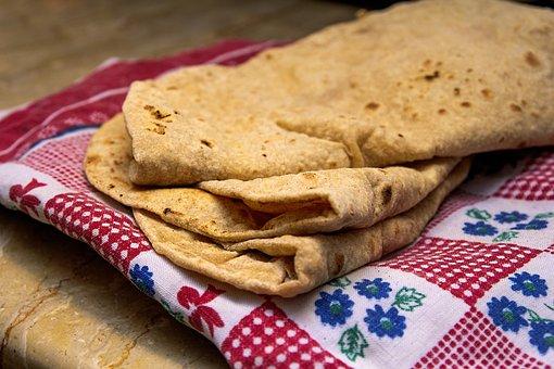 Roti, Bread, Flatbread, Snack, Baked