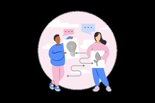 Sharing Idea, Icon, Collaboration, Teamwork, Diversity