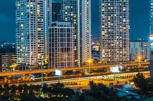 Buildings, Skycrapers, Cityscape, City, Facades