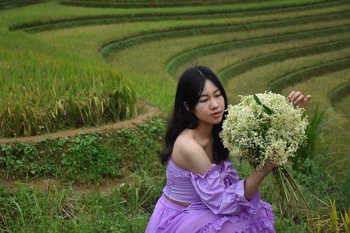 Terraces, Woman, Model, Asian Woman, Girl, Female