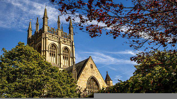 Church, Cathedral, Building, Medieval, Oxford, England