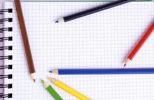 Art, Notebook, Colored Pencils, Pencils, Coloring