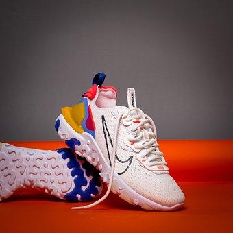 Nike React, Nike, Shoes, Footwear, Pair, Pair Of Shoes