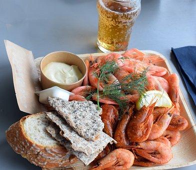 Shrimp Plate, Smoked Shrimps, Boiled Shrimp