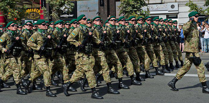 Parade, Military, Ukrainian, Soldiers, Warriors, Troops