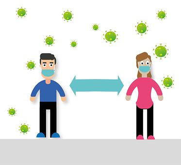 Social Distancing, Distance, Coronavirus, Mask, Virus