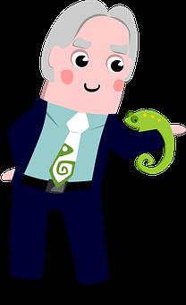 Zoologist, Biologist, Icon, Scientist, Man, Cartoon