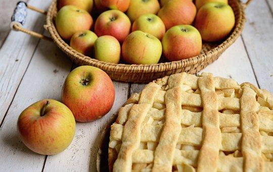 Pie, Apples, Fruit, Sweet, Basket, Cake, Apple Pie