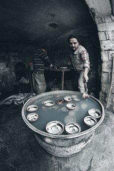 Man, Tinsmith, Workshop, Coppersmith, Brazier, Tinner