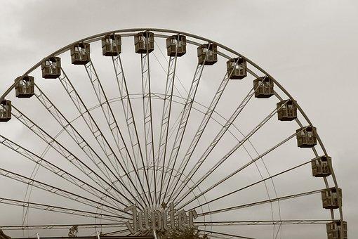 Ferris Wheel, Fair, Amusement Park, Market, Fairground