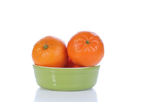 Orangees, Fruits, Food, Bowl, Dish, Ceramic Bowl