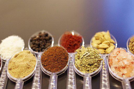 Spices, Herbs, Herbs And Spices, Spoons, Pepper