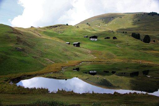 Landscape, Mountain, Rural, Houses, Hut, Village