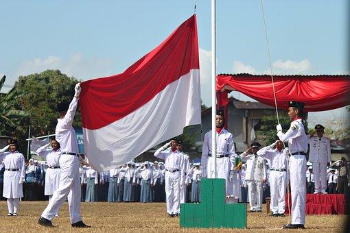 Flag, Flag Ceremony, Flag Raising, Indonesian Flag