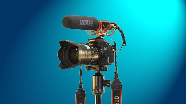 Camera, Canon, Microphone, Camera Equipment, Lens