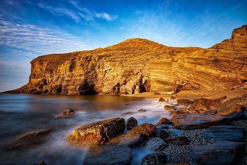 Sea, Beach, Cliff, Ocean, Water, Rocks, Rock Formation