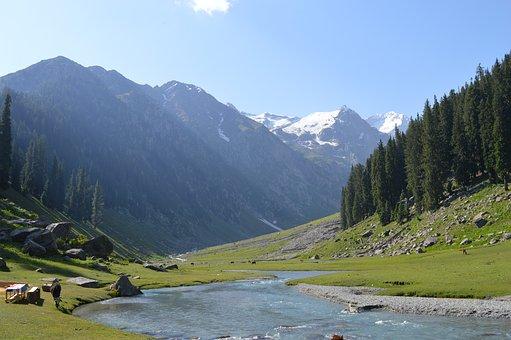 Mountains, Stream, Nature, River, Creek, Mountain Range
