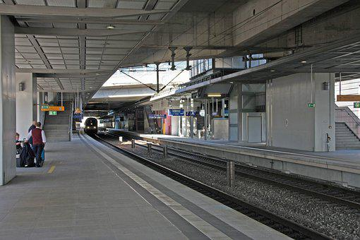 Railway Station, Platform, Train, Train Station