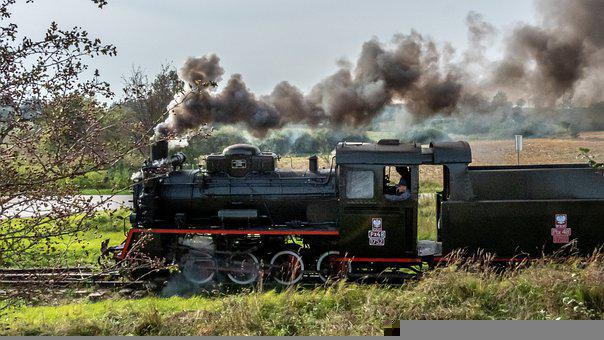 Train, Locomotive, Steam Locomotive, Smoke, Railway