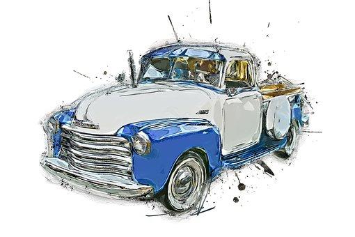 Pickup, Vehicle, Vintage, Old, Retro, Antique