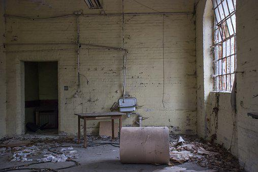 Shabby, Abandoned, Building, Factory, Window, Old, Ruin