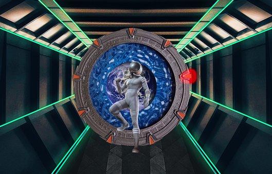 Astronaut, Stargate, Teleport, Spaceship, Universe