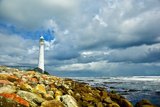 Lighthouse, Coastline, Breakwaters, Coast, Waves