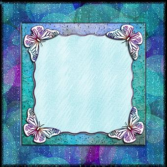 Frame, Butterflies, Decor, Border, Texture, Colorful