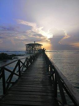 Pier, Resort, Sea, Dock, Wooden Pier, Beach, Ocean